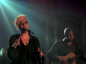 Emeli Sandé onstage.