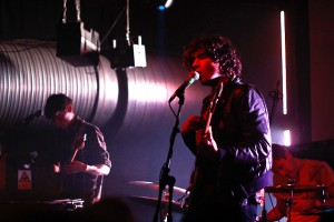 Oberhofer onstage at the Cargo. Photo: Linas Justice