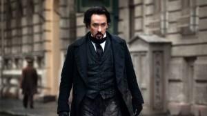 The Raven stars John Cusack as Edgar Allan Poe.