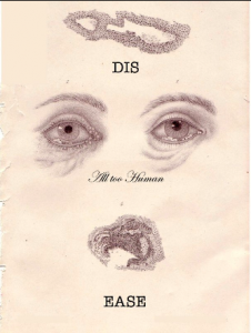 Dis-ease, a modified lithograph by Derek Ogbourne.