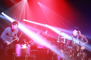 Foster the People drum up a storm. Photo: Marco Carboni