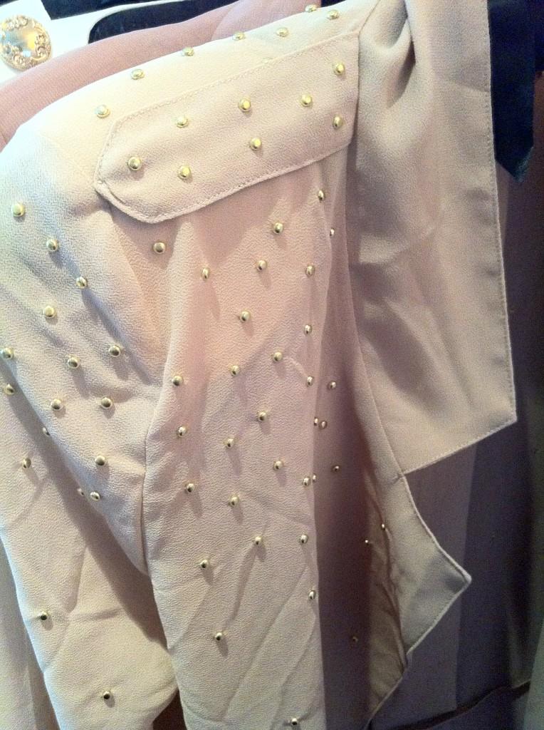 Gold studded blazer