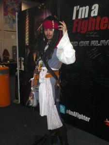 Captain Jack Sparrow attends Comic Con 2012