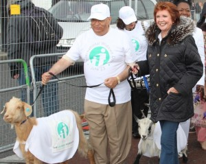 Lord Loomba and Cilla Black walk for widows