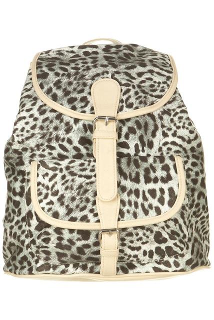 Soft Leopard Backpack - Topshop - £32