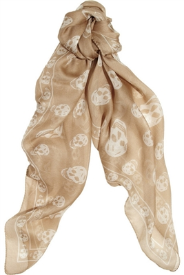 Skull-print chiffon scarf by Alexander McQueen - Selfridges - £165