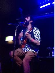 Scott Matthews and his acoustic ukulele