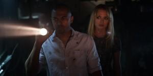 Noel Clarke and Laura Haddock in Storage 24