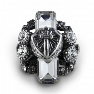 Otazu Crystal Shield an Sword Ring