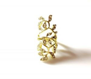 Dollface London gold twist-ring grande