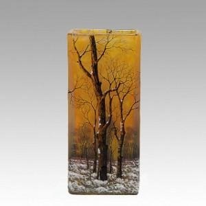 Mayfair Daum Freres Winter Vase