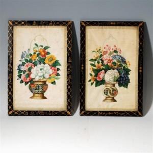 Mayfair Wakelin & Linfield Chinese silk paintings