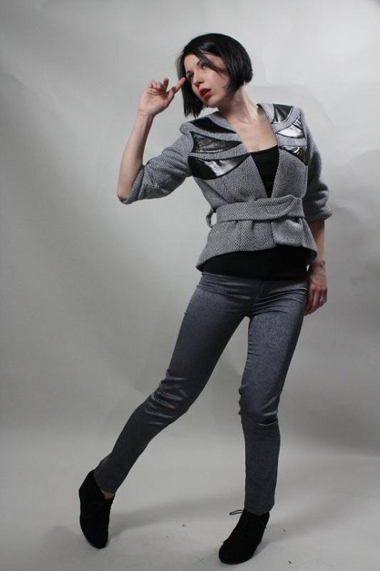 Daria Karaseva herringbone jacket