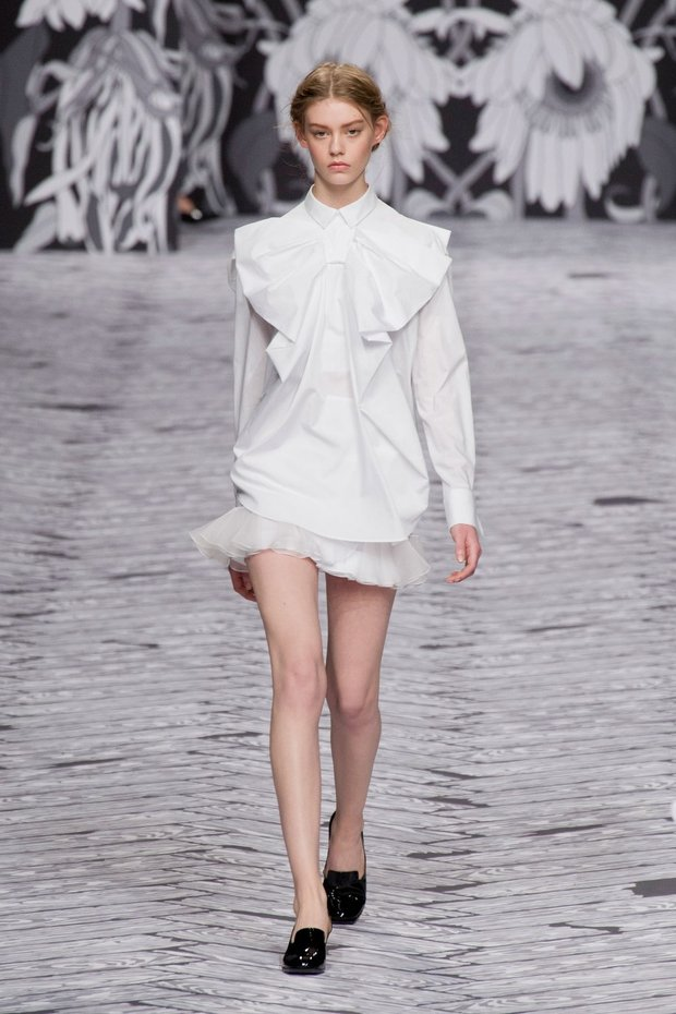 viktor-white ruffle dress