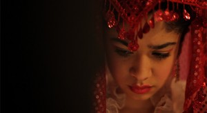 Dilan Aksut as the bride.
