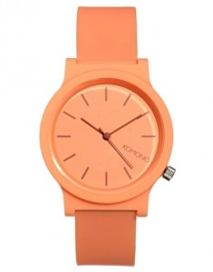 komono-rubber-salmon-watch-womens