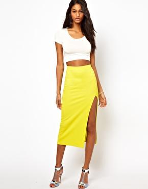 textured midi skirt asos