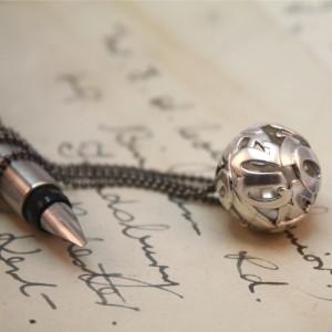 Lost-Words-Medium-Silver-Pendant