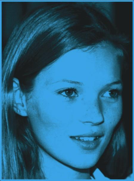 Kate Moss blue