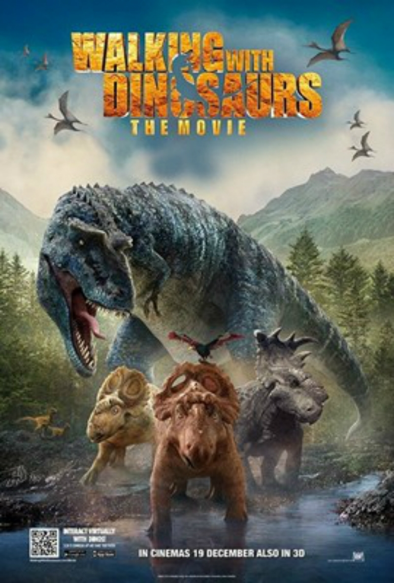 a review of the movie walking with dinosaurs Walking with dinosaurs, the big-screen version of the internationally successful bbc series that taught younger viewers about the prehistoric creatures through.