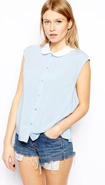 ASOS blouse with petal collar from ASOS