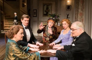 Charles, Edwards, Angela Lansbury, Janie Dee, Simon Jones and Serena Evans in BlitheSpirit_00129_Photo Johan Persson