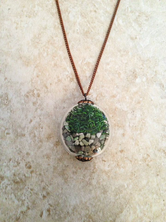 HL Woodland Moss Terrarium Necklace