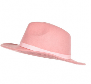 Light pink fedora hat from River Island