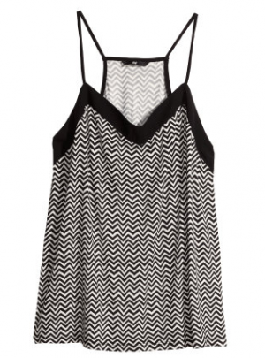 Zig-zag jersey top from H&M