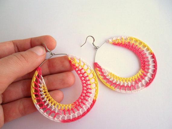 MHP coral earrings
