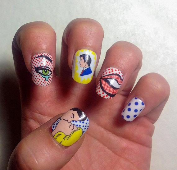 IHNA cartoon nails
