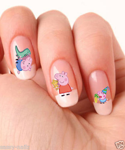Cute Pig Nail Art Designs : Sassynailzireland your favourite characters on nails