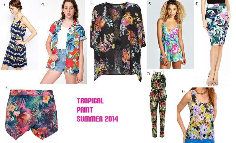 tropical print high street