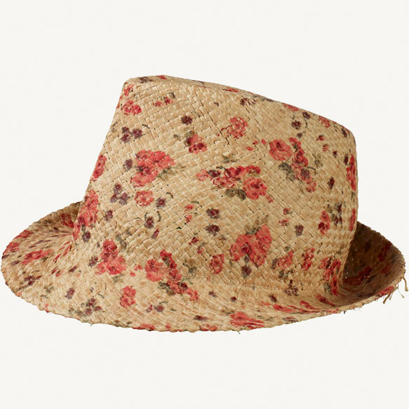 Fat Face floral trilby