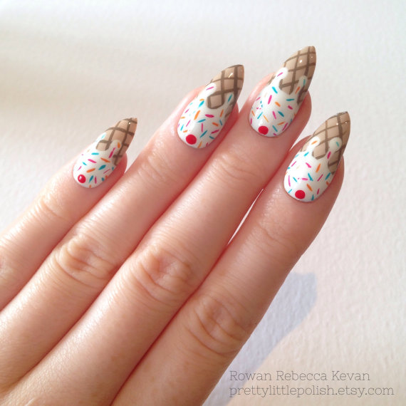 Stiletto nail art at Pretty Little Polish – The Upcoming