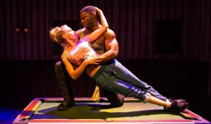 Othello image of Mark Ebulue and Kirsty Oswald