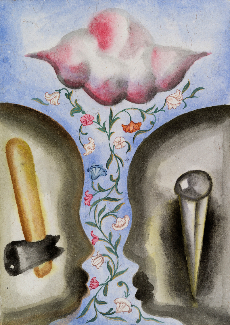 Francesco Clemente, Emblems of Transformation 102, 2014. Courtesy the artist and BlainSouthern