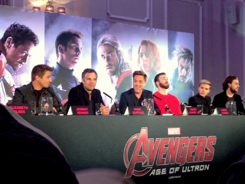 avengers age of ultron press conference natasha furlong