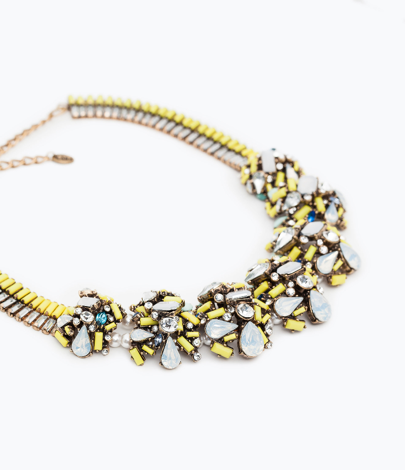 shiny stone necklace