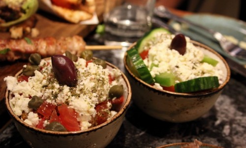 Cretan and Greek salads