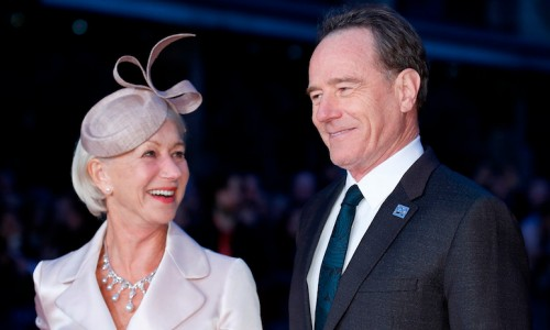 "LONDON, ENGLAND - OCTOBER 08:  Helen Mirren and Bryan Cranston attend the ""Trumbo"" Accenture Gala during the BFI London Film Festival at Odeon Leicester Square on October 8, 2015 in London, England.  (Photo by John Phillips/Getty Images for BFI) *** Local Caption *** Helen Mirren; Bryan Cranston"
