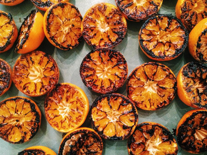 Charred Clementines