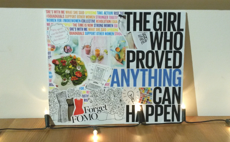 Image result for Glue pieces to the vision board