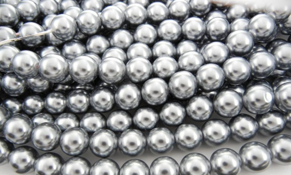 clip pearls video silver of up and shutterstock close white footage macro black stock