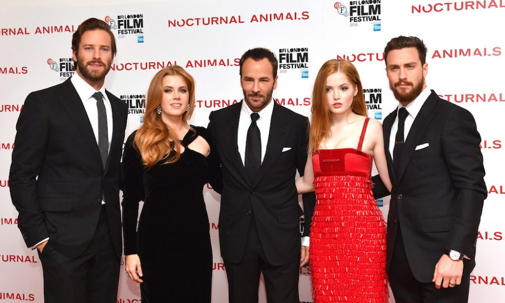 Image of: Tom Ford Nocturnal Animals Premiere Chat With Tom Ford Amy Adams Armie Hammer Aaron Taylorjohnson And Ellie Bamber Beyond 50 Radio Show Nocturnal Animals Premiere Chat With Tom Ford Amy Adams Armie