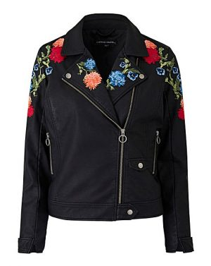 Embroidered Biker Jacket, £60