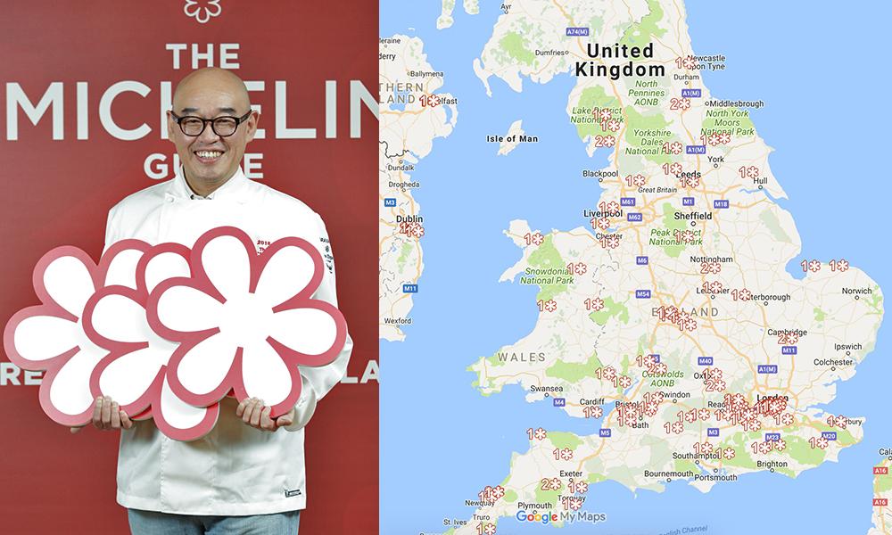 Michelin Star Restaurants London Map