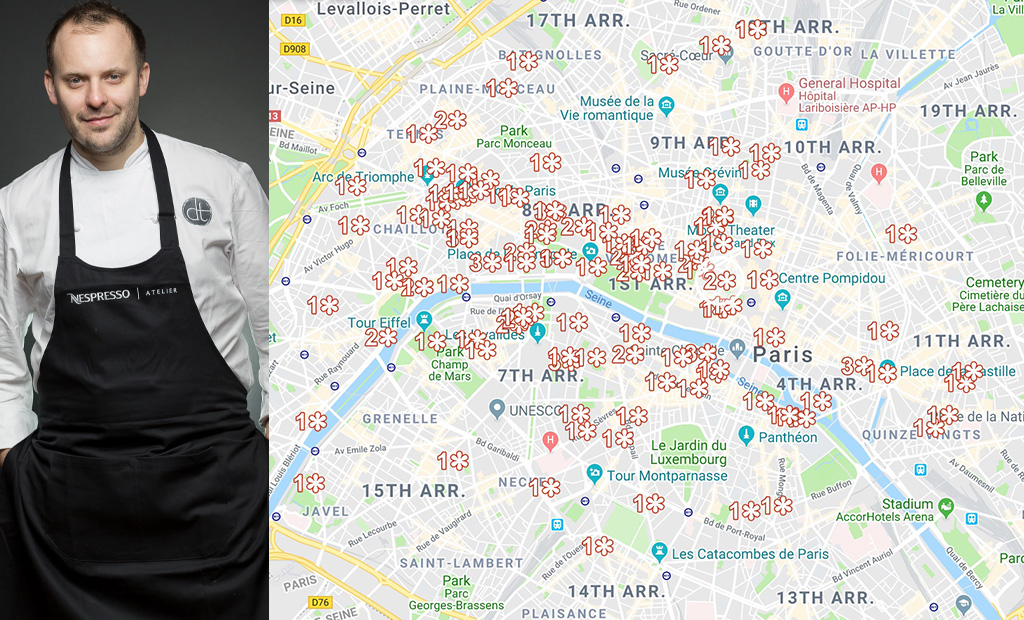 All The Paris Michelin Star Restaurants 2019 On A Map And