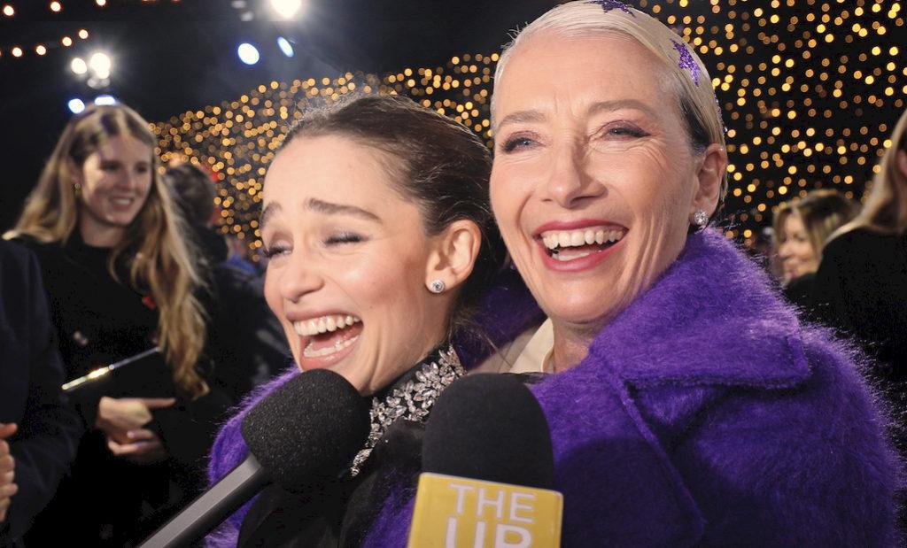 movie 2019 emma thompson Last Christmas Premiere On The Red Carpet With Emilia